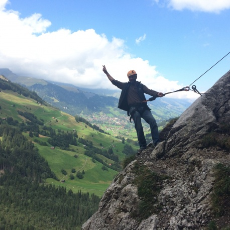 Chaligang Via Ferrata, alpinschule, adelboden adventure park