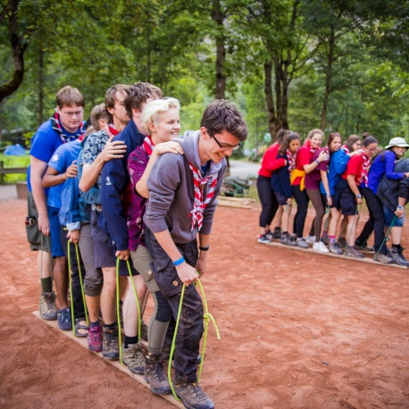 Scouts team building