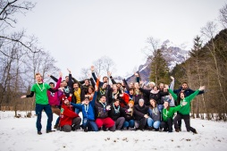 Rover Scouts, Cheering, Group Picture