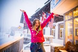 Rowina in the snow