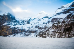Oeschinensee, HIking, Snowy Mountains