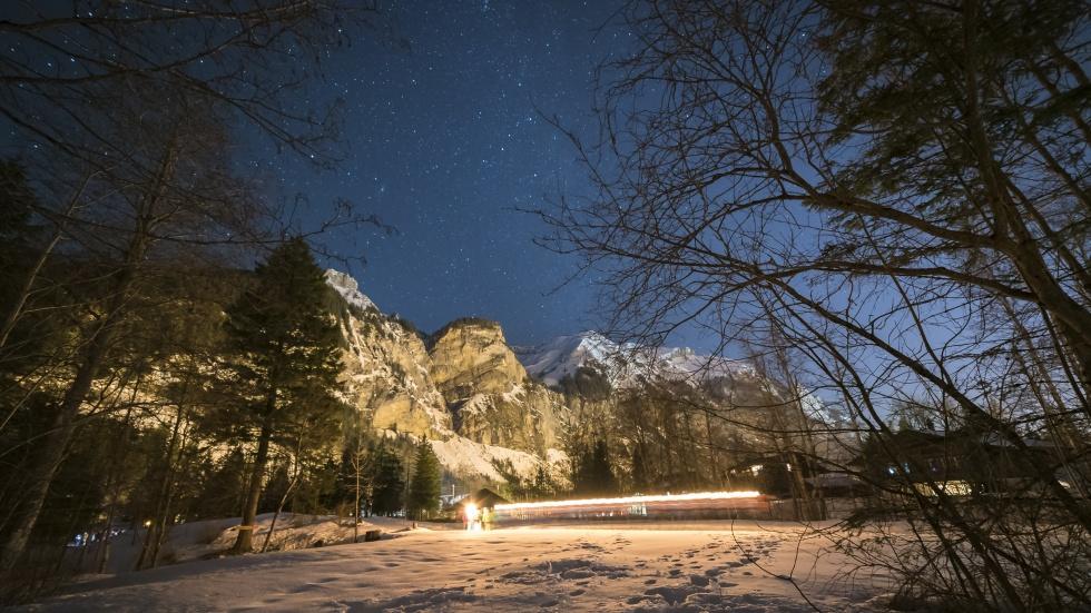 Winter Light Trail 2