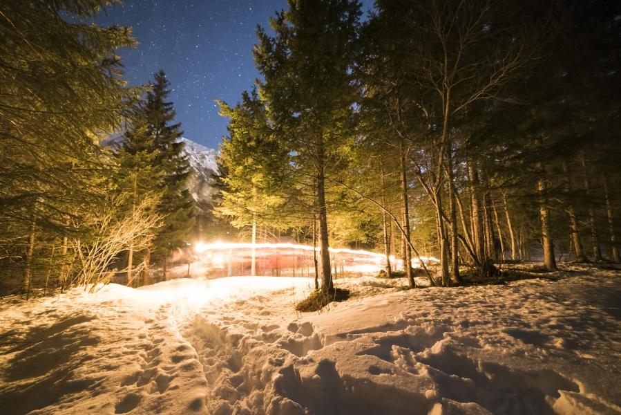 Winter Light Trail 0