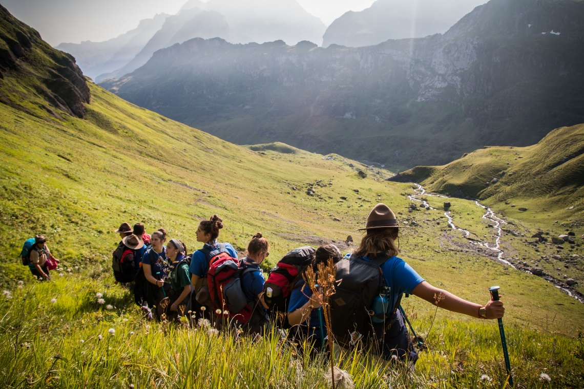 Hiking, Alps, Group Activity