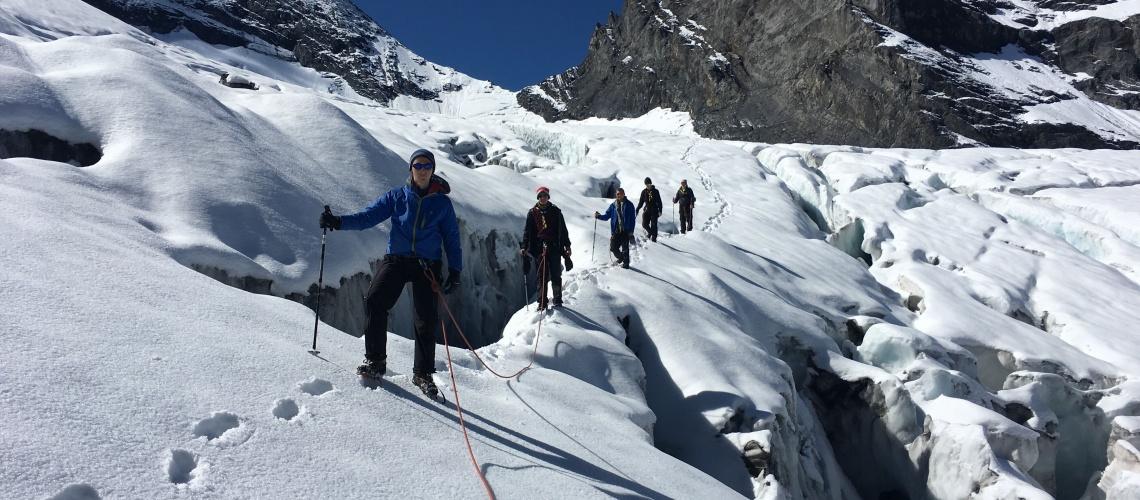Climbing, bluemlisalp glacier tour